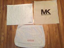 Coach Guess & Michael Kors Dust Bags Cream & White  organiser Lot