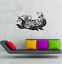 Wall Stickers Vinyl Decal Relaxed Tiger Animal Predator Room Decor (ig903)