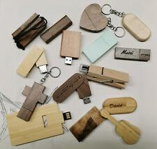 Holz USB Stick Speicherstick mit Fehlgravuren oder optischen Mängeln 16/32/64GB
