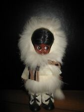 Vintage Traditional Fur & Leather Dressed Eskimo Plastic Doll