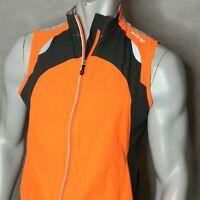 Saucony ViziPro Running Vest Sz L Jacket Small Men Orange Full Zip Poly YGI 6682