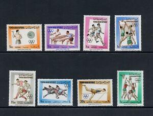 C014 Yemen 1964 Olympics 8v. MNH