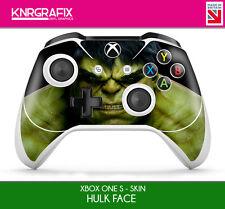KNR6639 PREMIUM XBOX ONE S CONTROLLER HULK FACE SKIN STICKER