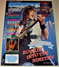 RARE Vintage 1990 METAL FORCES Magazine #46 - SAXON,NIRVANA,POISON,GREAT WHITE