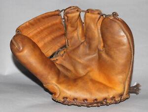 Antique Vintage 1950's Nokona Bill Hunter 3 finger leather baseball glove