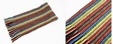 Mens/Ladies 100%Cashmere Multi Striped Knitted Scarf Made In Scotland (col 15)