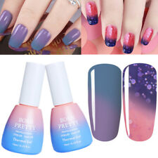 2Pcs Soak Off Thermal Color Changing UV Gel Nail Polish Varnish Set Born Pretty