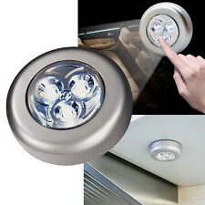 Cordless Battery Power 3 LED Cabinet Light Lamp Bulb with self-adhesive sticker