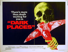 DARK PLACES 1973 Christopher Lee, Joan Collins, Herbert Lom US HALF SHEET POSTER