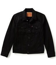 NEWLEVI'S MEN'S COTTON BUTTON UP TRUCKER JACKET RELAXED FIT DENIM BLACK