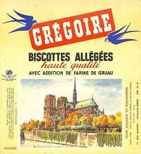"LEVALLOIS-PERRET "" BISCOTTES GREGOIRE "" NOTRE-DAME PARIS BUVARD BLOTTING PAPER"