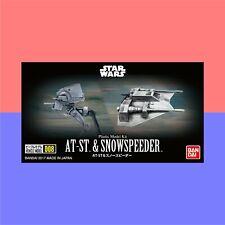 Bandai Star Wars AT-ST & Snowspeeder (Vehicle Model #8) plastic kit #0215632
