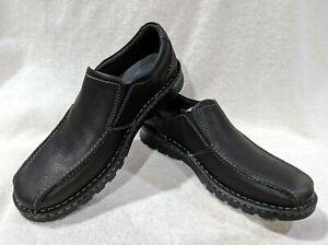 Clarks Men's Vanek Step Black Slip On Shoes - Sizes 8.5  NWB
