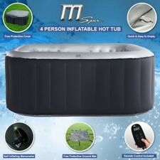 2018 MSpa Alpine Delight D-AL04 2+2 Inflatable Hot Tub Jacuzzi Bubble Spa Square