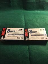 RCA P6120 8mm 120 minutes Standard Grade Blank Camcorder Tape  New Lot of 2