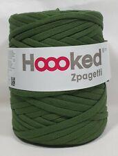 Hoooked `Zpagetti Stoffgarn Pistazie Ton//Sharp Pistachio` Neu Stricken Häkeln