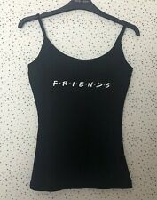 Brand New New Look Friends Black Vest Top Cami Size S