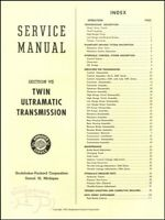 PACKARD TRANSMISSION SHOP MANUAL ULTRAMATIC SERVICE REPAIR MANUAL 1955-1956