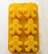 Cake Mold, Soap Mold The Gingerbread Man Silicone Mould For Candy Chocolate Fimo