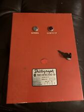 Vintage Dictograph Fire Detective Box Alarm Control Panel With Key Model 55 0