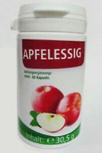 Apfelessig - 60 Kapseln - Nahrungsergänzung mit Vitaminen (29,34€/100g)