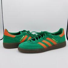 adidas Handball Spezial Green Orange Gum Sole Men's Shoes BD7620 - Size 8