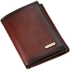 Nautica Men's Leather Credit Card Id Wallet Pocketbook Trifold 31NU11X017 Tan