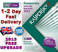 KASPERSKY INTERNET SECURITY 2012 - 1 PC USER 1 YEAR - NEW SEALED! 2013 2014 KIS