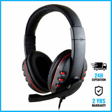 SOONHUA WIRED GAMING HEADSET HEADPHONES OVER EAR ECOUTEUR RED + MICROPHONE
