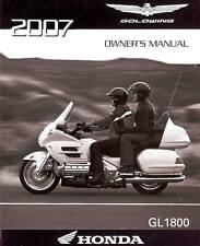 2007 Honda Goldwing Gl1800 Motorcycle Owners Manual -Honda-Gl 1800 Gold Wing
