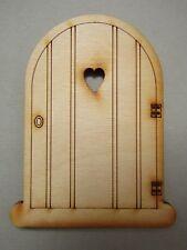 Wooden Fairy Door – Heart-Style Fairy Door Craft Shape. Designed/Made in the UK
