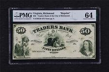"Virginia Richmond ""Reprint"" 50 Dollars PMG 64 Choice UNC"