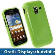 Grün Gel Tasche für Samsung Galaxy Ace 2 I8160 Android Glänzend TPU Hülle Case