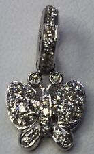 60% - Aaron Basha 18K Pave Dmnd Butterfly charm BF300A - NEW from authorized dlr