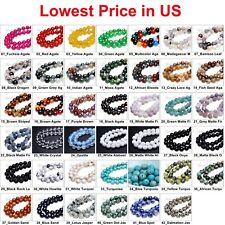 Wholesale Lot Natural Gemstone Round Spacer Loose Beads 4mm 6mm 8mm 10mm 12mm L2