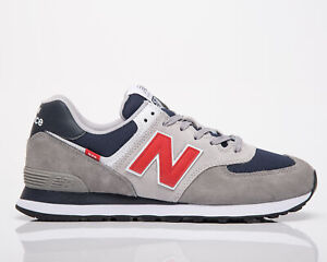 New Balance 574 Men's Marblehead Velocity Red Casual Lifestyle Sneakers Shoes