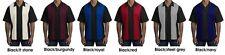 ##Port Authority Retro Bowling Shirt Charlie Sheen S300    MEDIUM  BLACK/RED