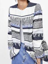 Zara Rustic  Frock Coat Fringe Jacket m Bnwt