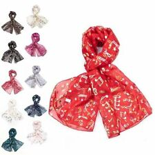 Polyester Rectangle Scarves for Women