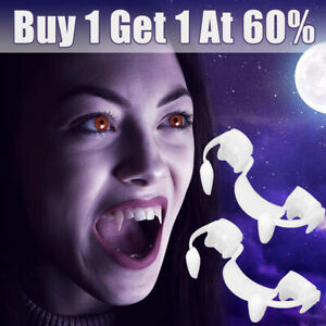 Halloween Party Cosplay Vampire Fangs Retractable Teeth Costume Zombie Tooth