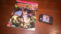 NINTENDO 64 N64 - TUROK 2 SEEDS OF EVIL #G39 WITH STRATEGY GUIDE BOOK