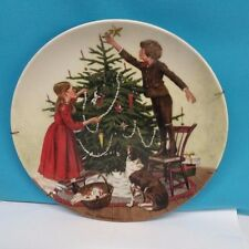 "Decorative Plate of ""Christmas"" by Edwin Knowles company"