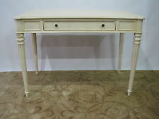 2014 Ethan Allen Cream French Style Desk With Fluted Legs; Exceptionally Clean
