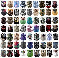 2pcs Magic Scarf Outdoor Headwear Face Bandana Tube UV Mask Covering Blaclava
