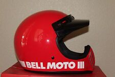 Bell Moto-3 Classic Red Full Face Motorcycle Helmet Size SMALL