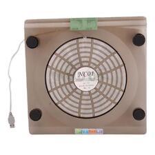 "USB Cooling 1 Big Fan LED Light Cooler 14.1""-15.4"" Laptop PC Pad Rack Stand"