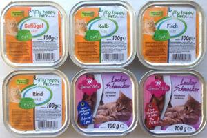 Katzenfutter Pastete/Ragout verschiedene Sorten 272 x 100g *versandfrei*
