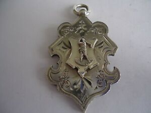 Large Heavy Antique Victorian Silver Golfer Golf Fob Medal 1901. 27g.