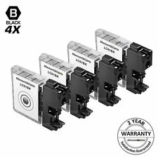 4pk LC61BK LC61 BLACK Ink Print Cartridge for Brother mfc-5895cw mfc-j415w j615w