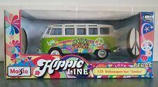 VW Split Screen T1 Camper Hippie Green Van Maisto 1:25/24 Scale Diecast Model